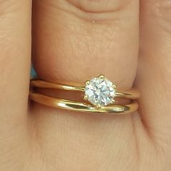 Plain Gold Bands Wedding Rings