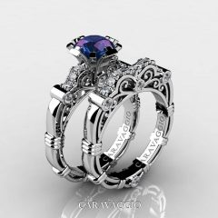Alexandrite Wedding Bands