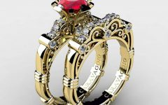 Gold and Ruby Engagement Rings