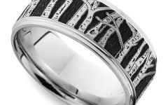 Aspen Tree Comfort Fit Cobalt Wedding Bands