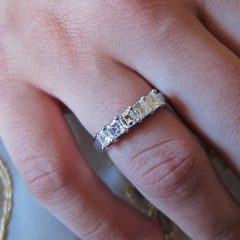 Asscher Cut Wedding Bands