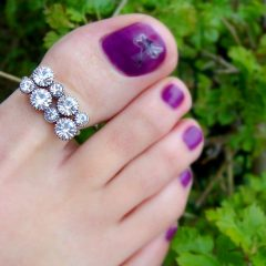 Toe Rings With Diamonds