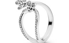Sparkling Butterfly Open Rings