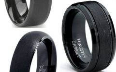 Flat Black Wedding Bands