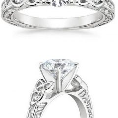 Celtic Style Engagement Rings