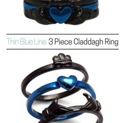 Thin Blue Line Engagement Rings