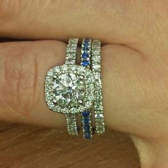 Blue Line Engagement Rings