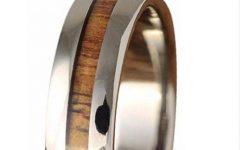 Men Wood Grain Wedding Bands