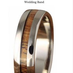 Men's Wood Grain Wedding Bands