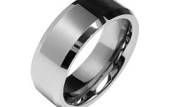 Beveled Edge Mens Wedding Bands