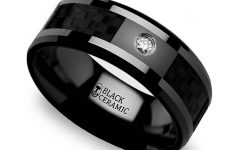 Mens Carbon Fiber Wedding Rings