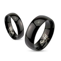 Black Stainless Steel Wedding Bands