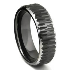Dark Metal Mens Wedding Bands
