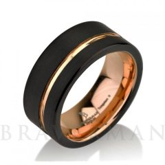 Black And Gold Wedding Bands For Men