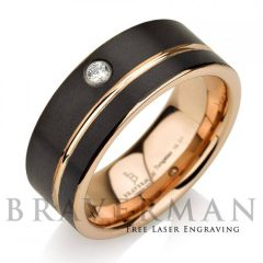 Black And Gold Mens Wedding Bands