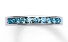 Blue Diamond Anniversary Rings