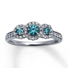 Zales Blue Diamond Engagement Rings