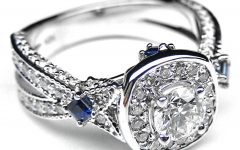 Wedding Rings with Diamonds and Sapphires