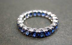 Blue Sapphire Anniversary Rings