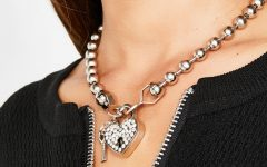 Heart Padlock Locket Element Necklaces