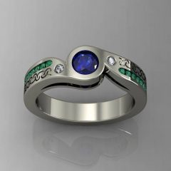 Emerald And Sapphire Engagement Rings