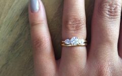 Three Stone Engagement Rings With Wedding Band