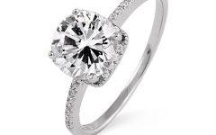 Silver Diamond Wedding Rings
