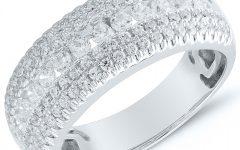 Diamond Multi-row Anniversary Rings in White Gold