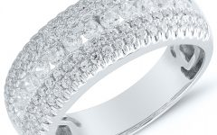 Diamond Multi Row Anniversary Bands in White Gold