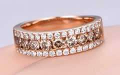 Champagne Diamond Anniversary Bands in Rose Gold