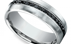 Black and White Gold Men's Wedding Bands