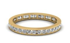 Diamond Eternity Wedding Bands In 14K Gold