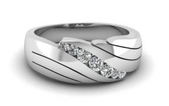 Male Wedding Bands with Diamonds