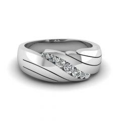 Platinum Diamond Mens Wedding Rings