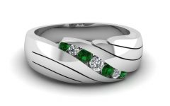 Men's Wedding Bands Emerald