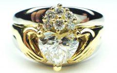 Diamond Claddagh Engagement & Wedding Ring Sets