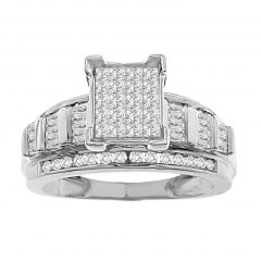 Diamond Chip Wedding Bands
