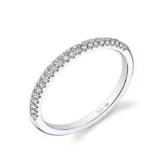 Pave Set Diamond Wedding Bands