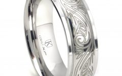 Engravable Titanium Wedding Bands