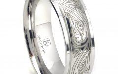 Engravable Titanium Wedding Bands