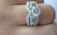 Interlocking Wedding Band and Engagement Rings
