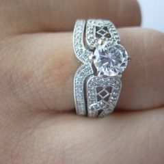 Interlocking Engagement Rings And Wedding Band