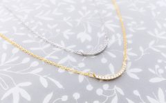 Sparkling Curved Bar Necklaces