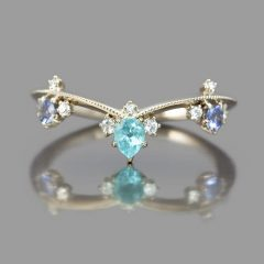 Blue Sparkling Crown Rings