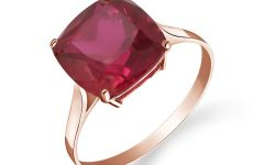 Cushion-cut Ruby Rings