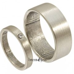 Wedding Rings With Fingerprint