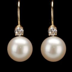 Dangling Freshwater Cultured Pearl Rings