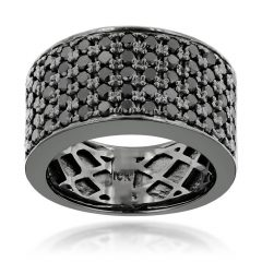 Black Diamond Wedding Bands For Him