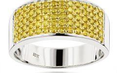 Wedding Bands With Yellow Diamonds