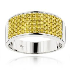 Wedding Bands With Yellow Diamonds